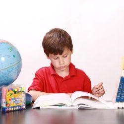 ひたすらに参考書を読む少年